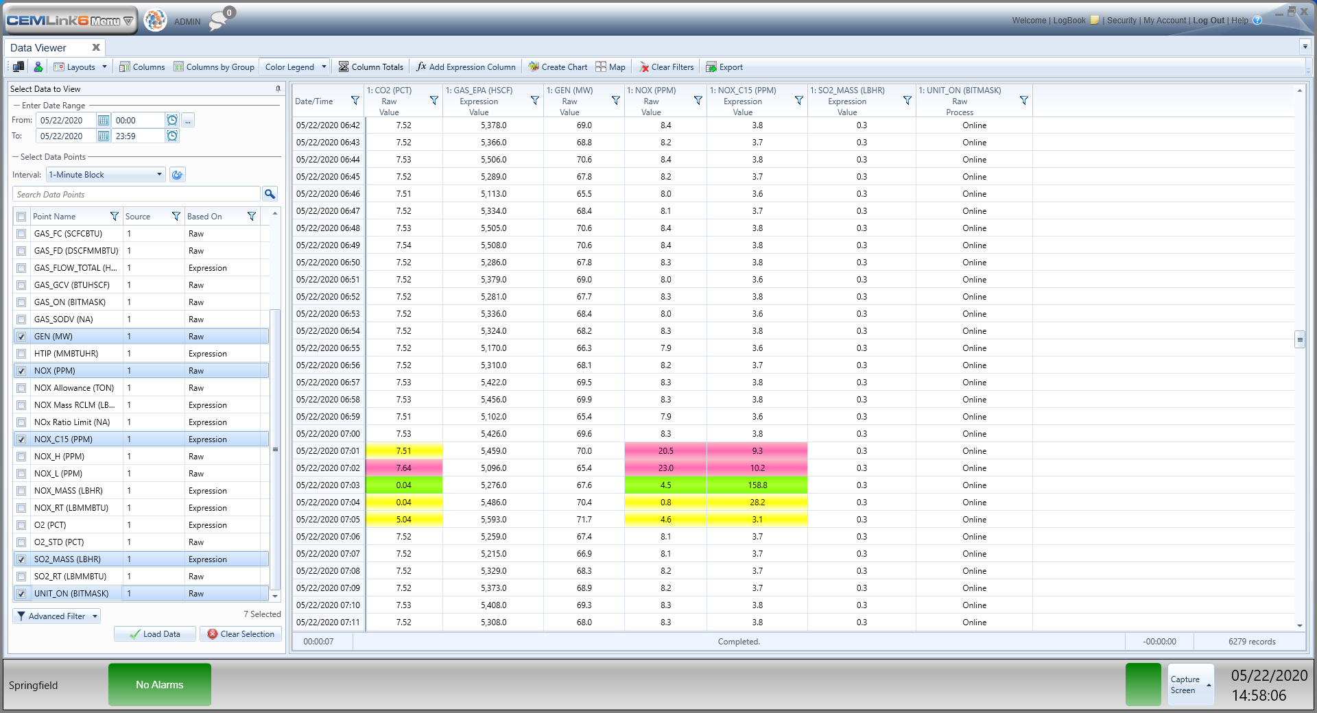 CEMLink 6 Data Viewer screenshot