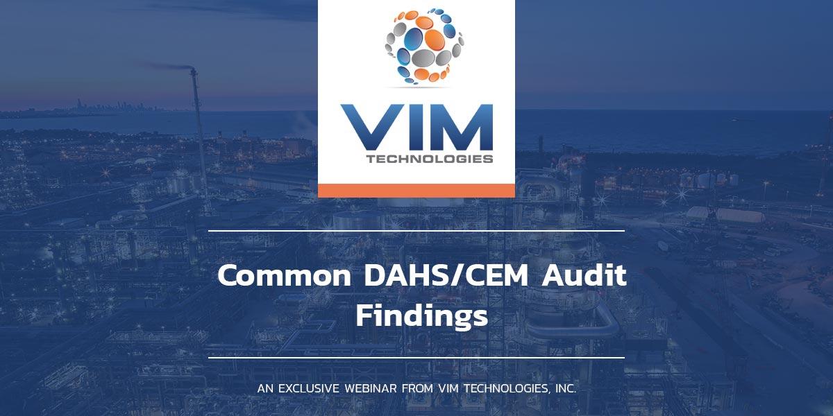 Common DAHS/CEM Audit Findings webinar graphic