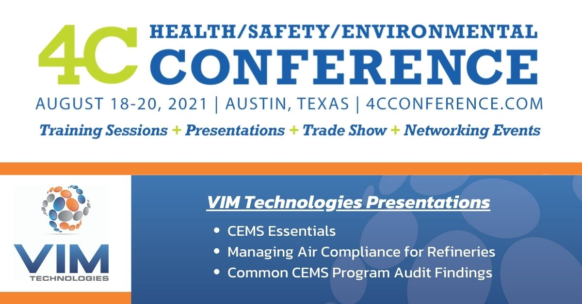 VIM Technologies Presenting at the 2021 4C Health, Safety & Environmental Conference